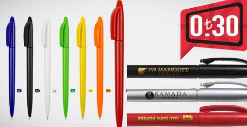 fuar için ucuz plastik kalem